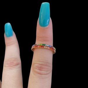 Kate Spade Ring It Up Pave Rainbow Ring Set